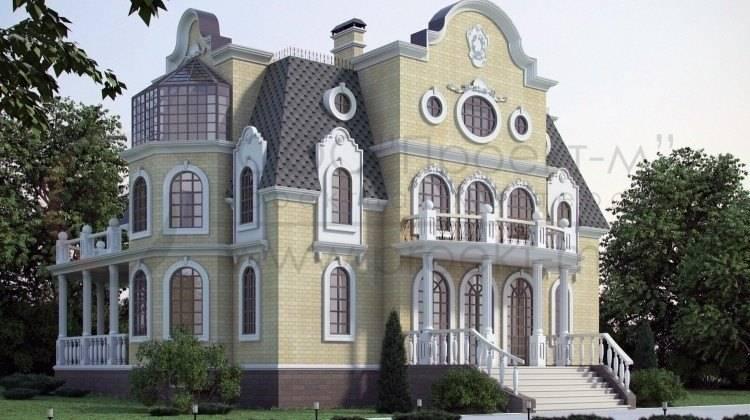 Проект небольшого трехэтажного замка