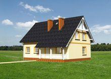 Красивый двухэтажный дом с английскими окнами