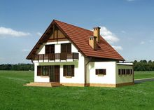 Привлекательный особняк с гаражом под двускатной крышей