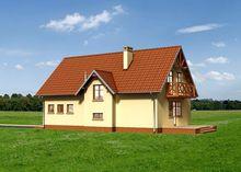 Проект привлекательного дома площадью 167 кв. м с эркером