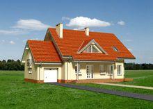 Симпатичный проект небольшой виллы с комнатами для отдыха, гаражом и крышей