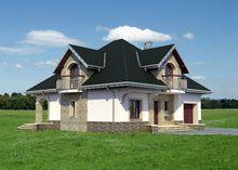 Архитектурный проект оригинального загородного коттеджа с пятью спальнями