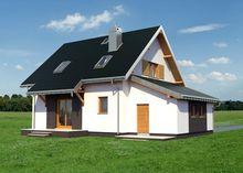 Проект красивого коттеджа с площадью 140 m²