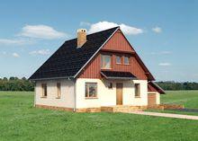Проект небольшой усадьбы с площадью 160 m²