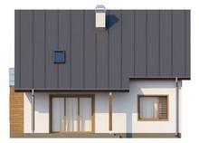 Проект загородного дома с эркером и кабинетом на первом этаже