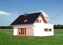 Архитектурный проект небольшого особняка с крыльцом и балконами