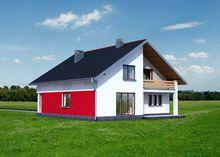 Стильный двухэтажный дом с большими спальнями