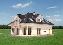 Оригинальный проект светлого мансардного дома