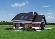 Интересный дом с гаражом с тремя спальнями в мансарде