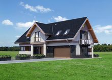Великолепный проект дома с гаражом на две машины