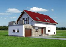 Великолепный проект загородного дома с просторной террасой над гаражом