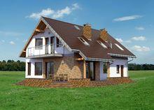 Проект восхитительного двухэтажного особняка с тремя балконами