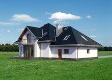 Изысканный особняк с красивой крышей