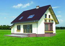 Уютный двухэтажный коттедж с эркером