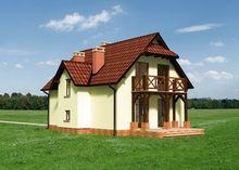 План великолепного дома с эркерами и балконами