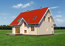 Загородный дом с мансардой 12м на 9м