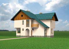 Жилой дом с гаражом и просторной террасой