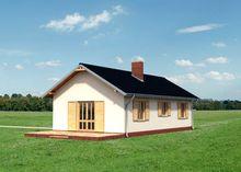 Одноэтажный современный дом площадью 70м2