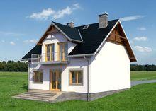 Привлекательный двухэтажный особняк квадратной формы