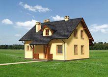 Современный проект коттеджа с тремя уютными спальнями