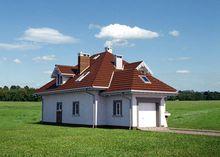 Оригинальный проект дома с гаражом для 1 машины