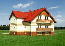 Красочный особняк в три этажа с четырьмя спальнями и санузлами