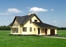 Двухэтажный дом уникальной формы в европейском стиле
