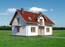 Загородный дом прямоугольной формы 9 на 12
