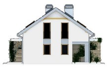 Мансардный дом на две семьи с отдельными входами