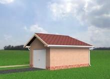 Проект гаража на 1 машину с пристроенной кладовкой