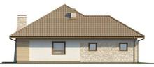 Проект 1-этажного коттеджа с гаражом и мансардой