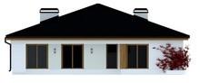 Проект дома с четырёхскатной крышей и гаражом на 2 машины
