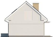 Проект компактного дома с мансардой с двускатной крышей