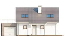 1,5-этажный дом с уютной террасой над гаражом