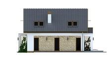 Мансардный проект дома с двухскатной крышей