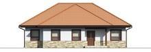 Проект одноэтажного коттеджа с многоскатной крышей