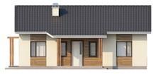 Небольшой одноэтажный дом с 2-я спальнями