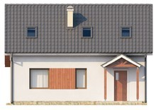 Проект экономного простого дома с мансардой