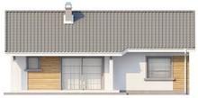 Проект компактного одноэтажного коттеджа с угловым окном кухни