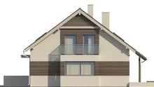 Проект компактного одноэтажного дома с террасой над гаражом