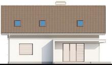 Классический проект дома 8 на 12 с мансардой