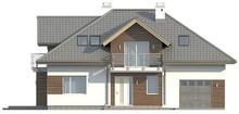 Проект традиционного дома с гаражом и прекрасной мансардой