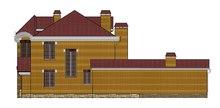 Проект для строительства классического двухэтажного особняка с кирпичным фасадом