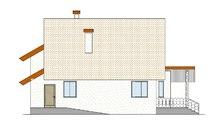 Архитектурный проект мансардного дома необычной формы