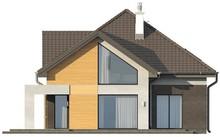 Проект загородного коттеджа с многоскатной крышей и фронтальным гаражом