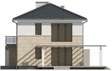 Проект современного хай тек двухэтажного дома простой конструкции