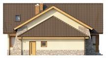 Проект дома с гаражом для 2 машин и террасой