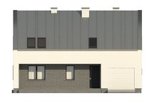 Проект современного стильного коттеджа с гаражом