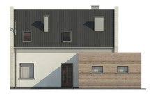 Проект стильного современного дома с мансардой