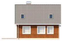 Проект дачного домика с небольшой террасой